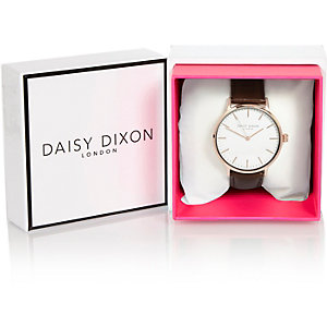 Daisy Dixon Alexa oversized leather watch