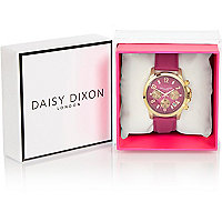 Daisy Dixon Adriana pink leather watch