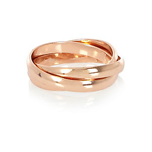 Rose gold tone ring
