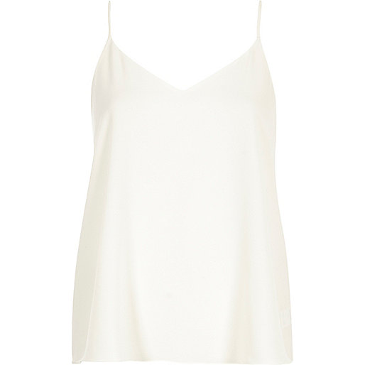 White V-neck cami top