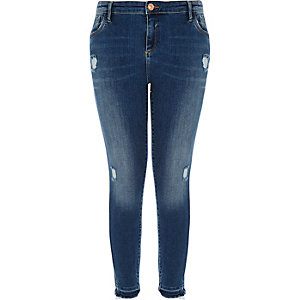 RI Plus blue wash Amelie super skinny jeans