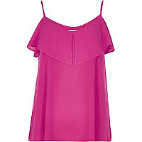 RI Plus pink tiered bardot cami