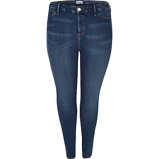 RI Plus dark blue wash Molly jeggings