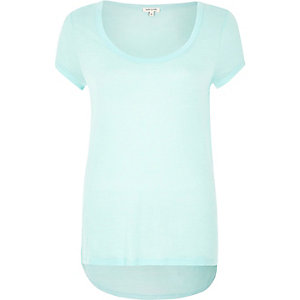 Turquoise scoop neck t-shirt
