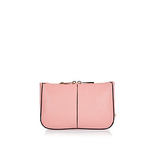 Pink simple make-up bag
