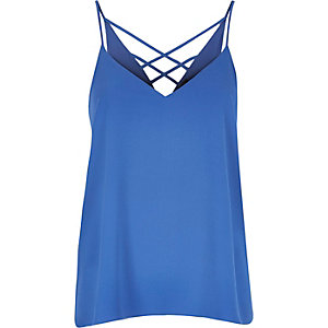 Blue strappy cami