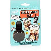 Black selfie phone clip