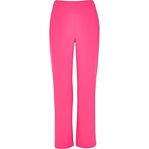 Bright pink wide pants