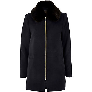 Navy swing coat