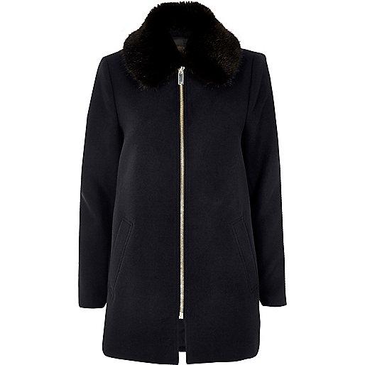 Navy swing coat