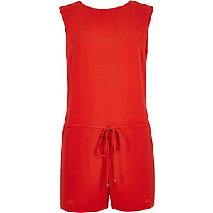 Bright red romper romper