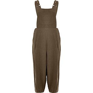 Khaki culotte jumpsuit