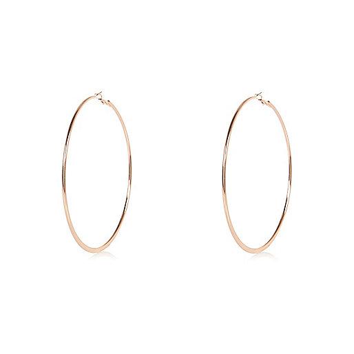 Rose gold tone hoop earrings