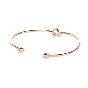 Rose gold tone simple knot cuff