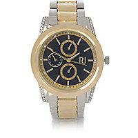 Armbanduhr in Gold und Silber