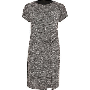 Grey knot t-shirt dress