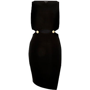 Black cut-out bodycon dress