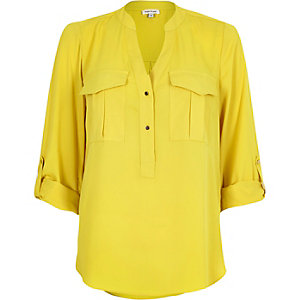 Yellow utility blouse