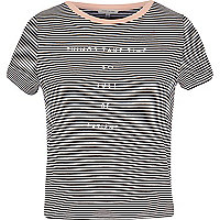 Black stripe neat t-shirt