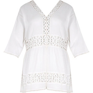 RI Plus white lace festival cover-up