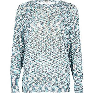 Blue lurex stitch sweater