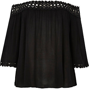 RI Plus black bardot top