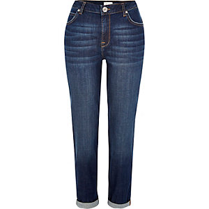 Dark blue wash Ashley boyfriend jeans