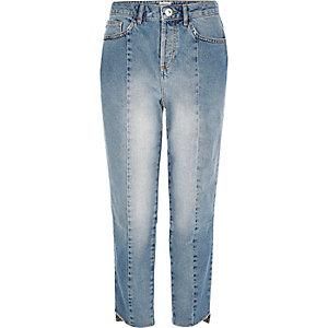 Light blue wash girlfriend jeans
