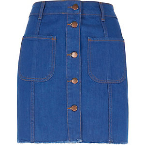 Denim '70s skirt