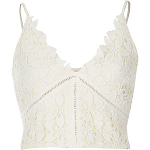 Cream lace bralet