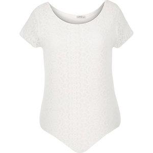 RI Plus cream lace bodysuit