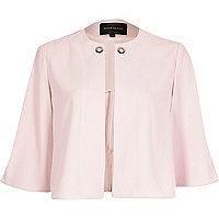 Pink eyelet cape jacket