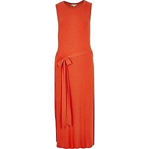 Orange belted tunic