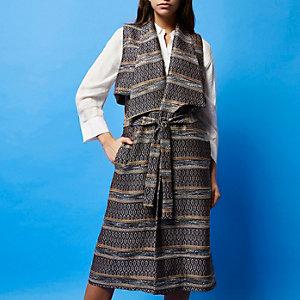 RI Studio navy sleeveless trench coat