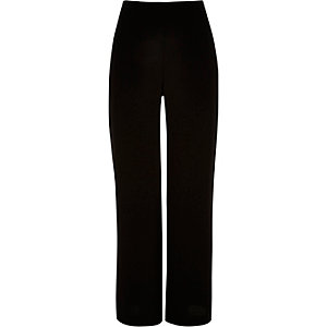 Black high waisted wide pants