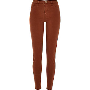 Dark orange Molly jeggings
