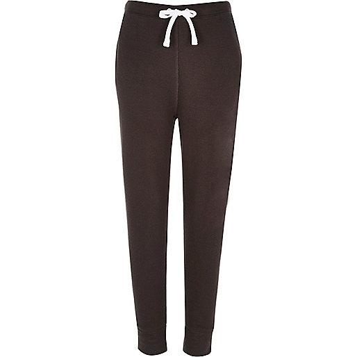 Pantalon de jogging en jersey gris foncé