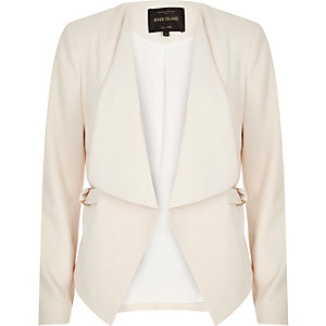 Cream draped blazer