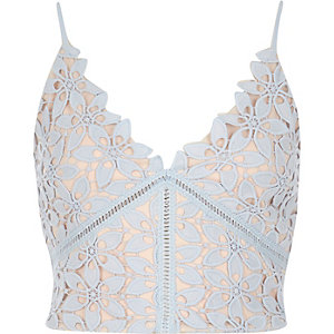 Blue lace bralet