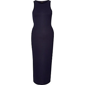 Navy racer back dress