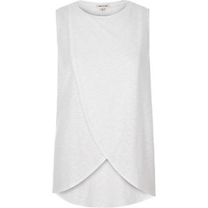 White waffle wrap front top