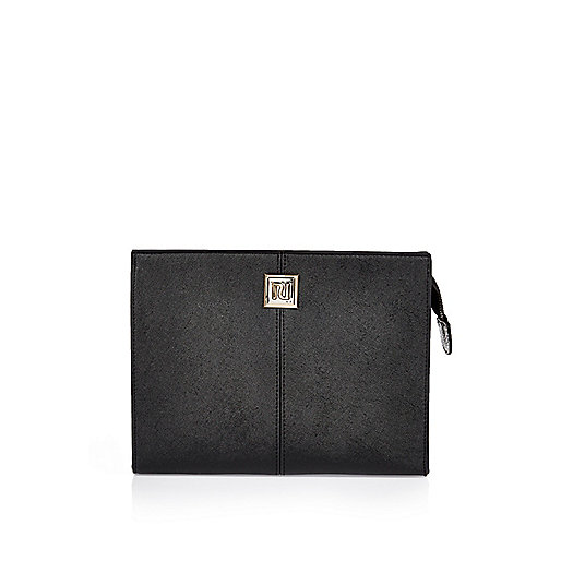 Black slim make-up bag