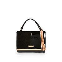 Black mini satchel