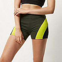 RI Active khaki gym shorts