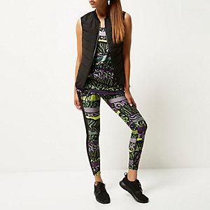 RI Active green print sports leggings