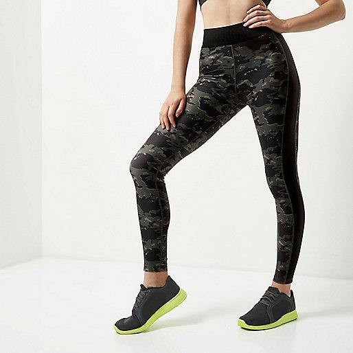 RI Active camo sports leggings