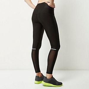 RI Active – Sport-Leggings aus schwarzem Netzstoff