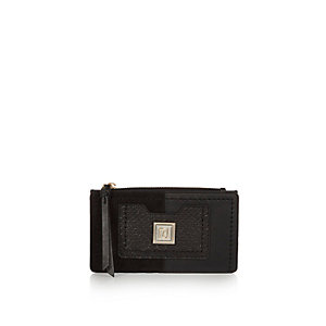 Black slim purse