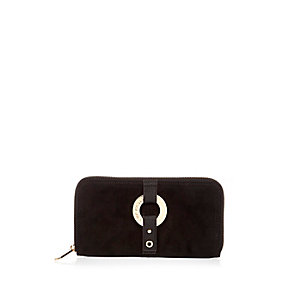 Black hoop purse