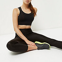 RI Active black mesh layered sports bra